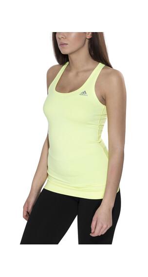 adidas Techfit Hardloopshirt korte mouwen Dames Tank geel